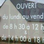 Lettrage horaires d'ouverture magasin